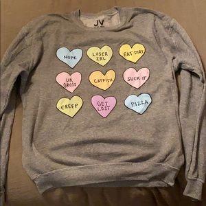 Jac Vanek Crew Neck Heart Sweatshirt